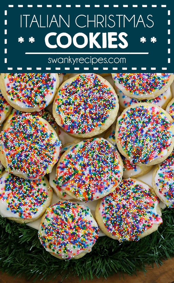 Italian Christmas Cookies - The best quick and easy 10 ingredient sugar cookie recipe for Christmas. These Italian Christmas Cookies are soft and have a classic sugar cookie taste you'll love this holiday season. Everyone raves how delicious they are. Perfect for a cookie swap.