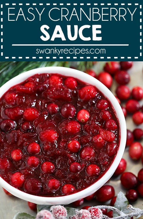 Easy Cranberry Sauce - 3 ingredients, 10-minute homemade Cranberry Sauce. A delicious traditional Thanksgiving side dish, this cranberry sauce is the star to any holiday spread.