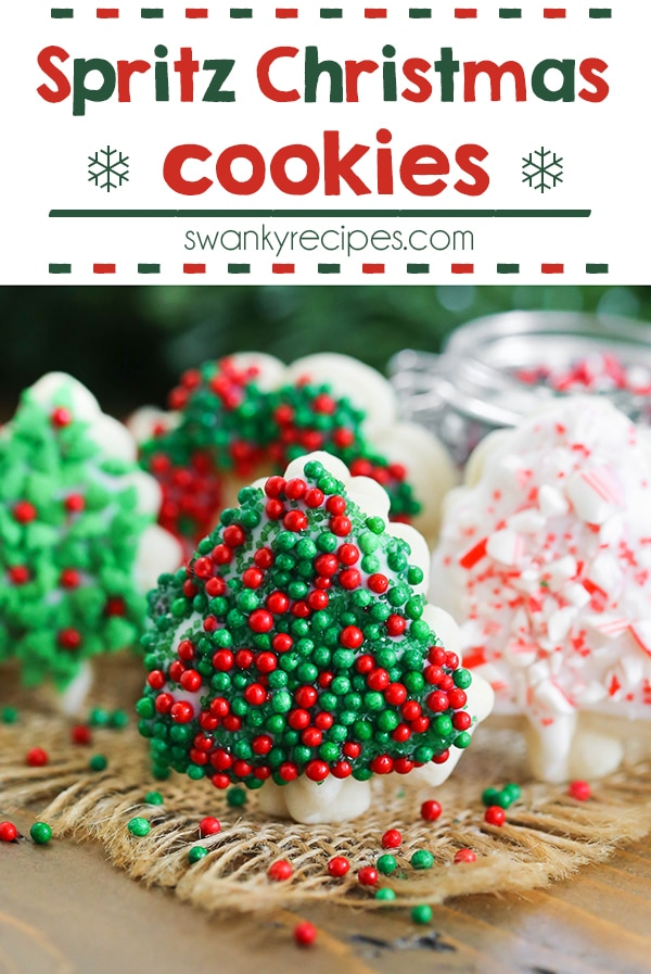 Spritz Christmas Cookies - The BEST cookies this holiday season! Everyone loves this easy to make Christmas cookie recipe.