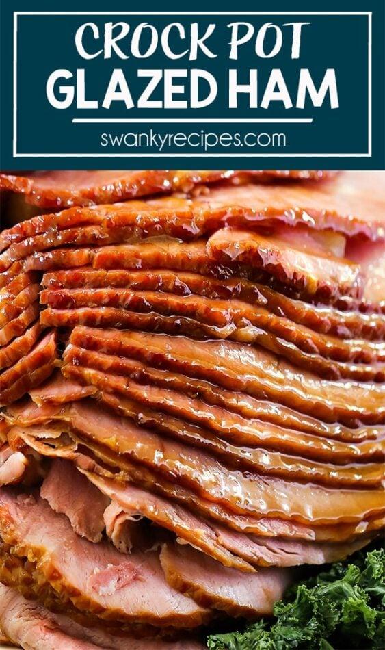 Spiral Ham sliced from slow cooker