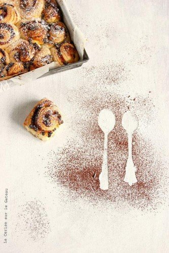 Chocolate Chunk Cherry Sweet Rolls