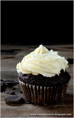 Toasted Coconut Chocolate Cupcake