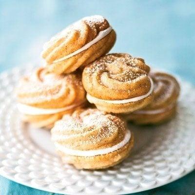 Cinnamon Spritz Sandwich Cookies