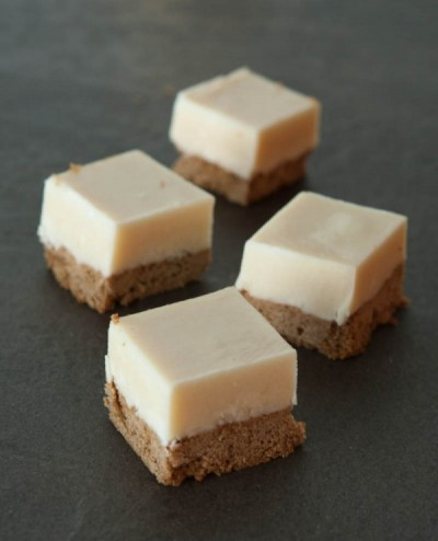 White Chocolate Gingerbread Fudge