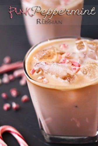 Pink Peppermint Russian Drink