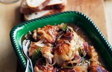 Succulent and moist chicken marsala with lemon.