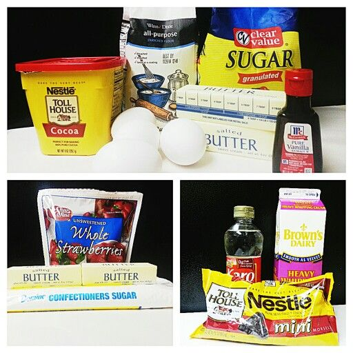 Strawberry Ganache Brownie Ingredients