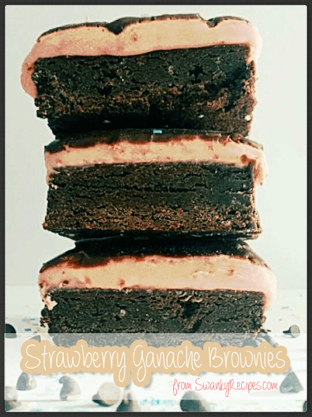 Strawberry Ganache Brownies