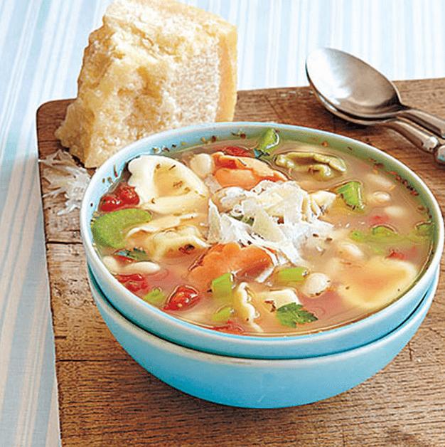 Tortellini and White Bean Soup