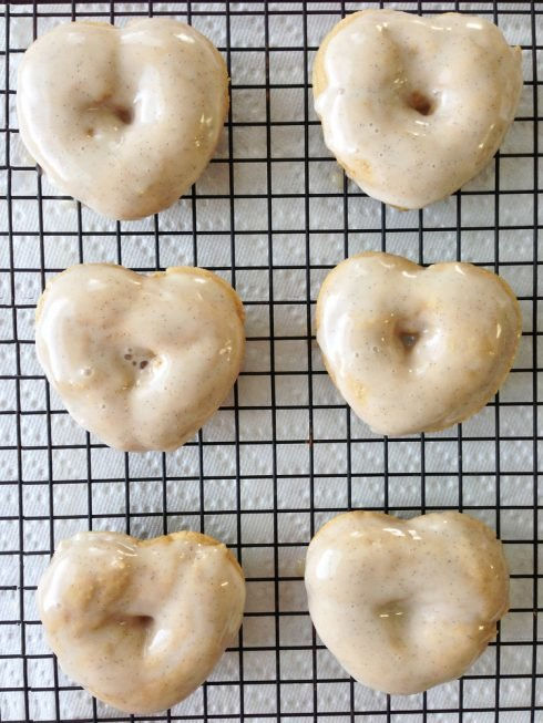 Heart Shaped Vanilla Bean Donuts