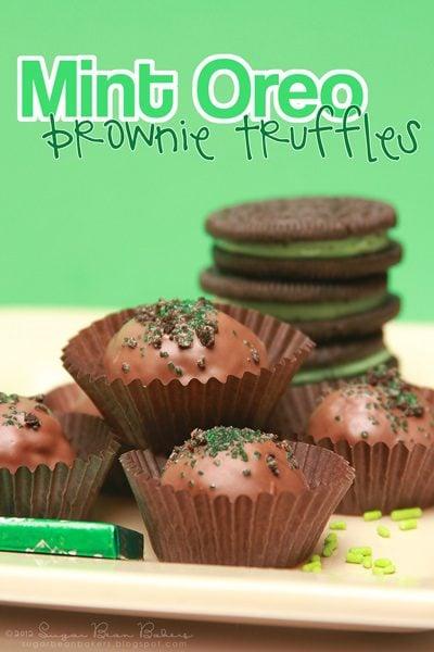 Mint Oreo Brownie Truffles