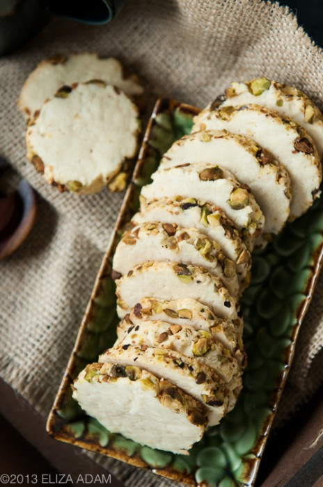 Pistachio and Cream Cheese Sugar Cookies