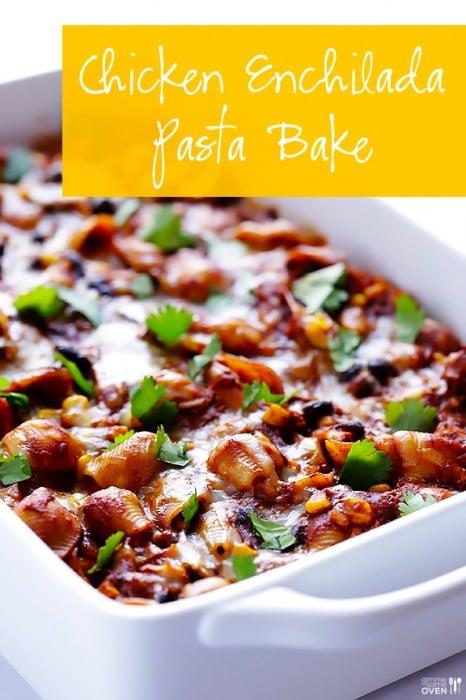 Chicken Enchilada Pasta Bake