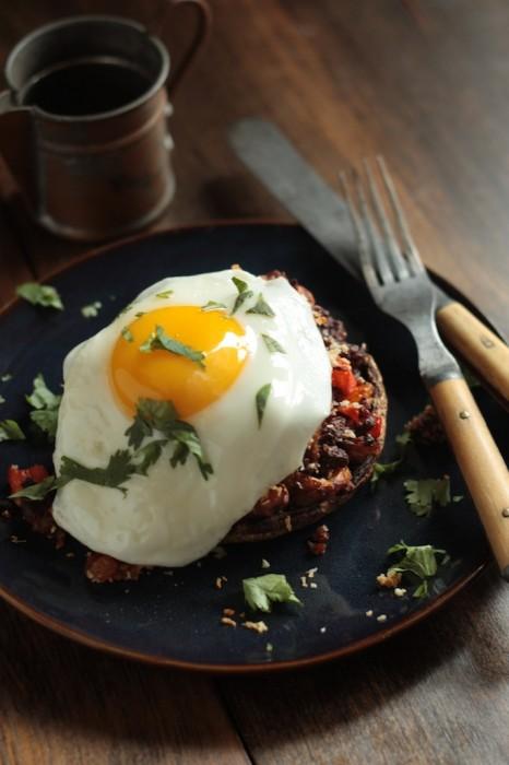 Chorizo Hash Stuffed Breakfast Mushroom