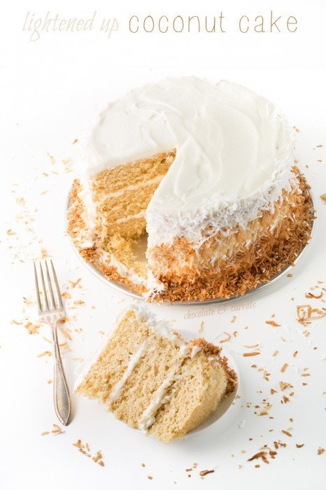 Lightened Up Coconut Cake