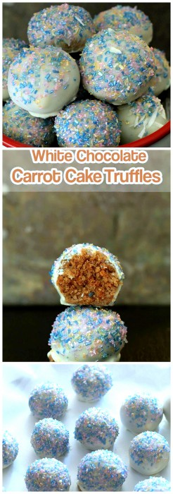 White Chocolate Carrot Cake Truffle Balls - Swanky Recipes