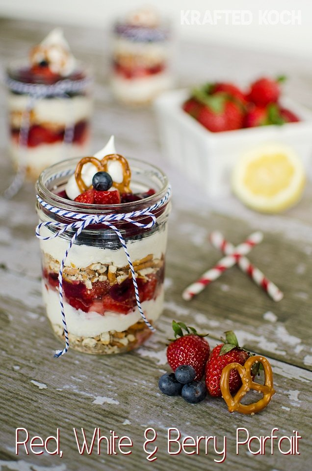 Red White and Blue Berry Parfait