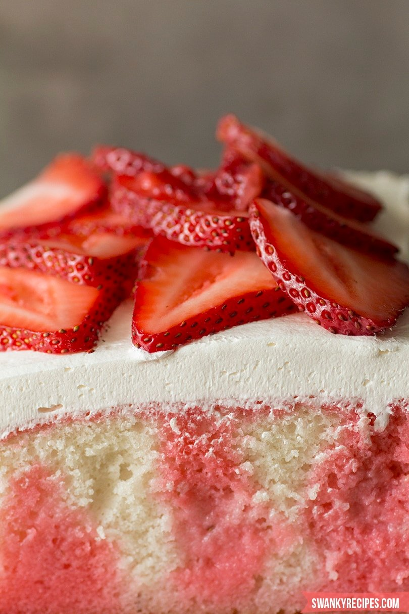 Easy Strawberry Poke Cake