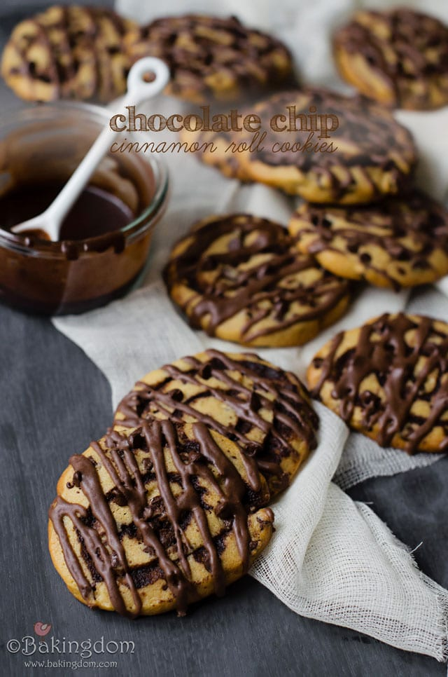 Chocolate Chip Cinnamon Roll Cookies