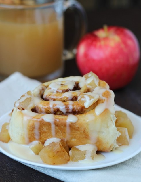 Apple Cider Cinnamon Rolls with Cream Cheese Frosting