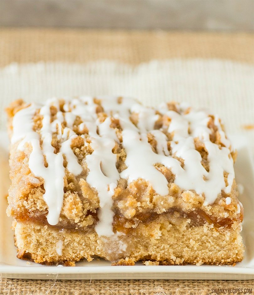 Homemade Peach Coffee Cake