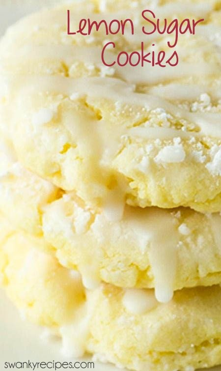 Lemon Cookies - Worlds BEST chewy sugar cookies with real lemon. From scratch lemon cookie recipe and an easy cake mix cookie version.