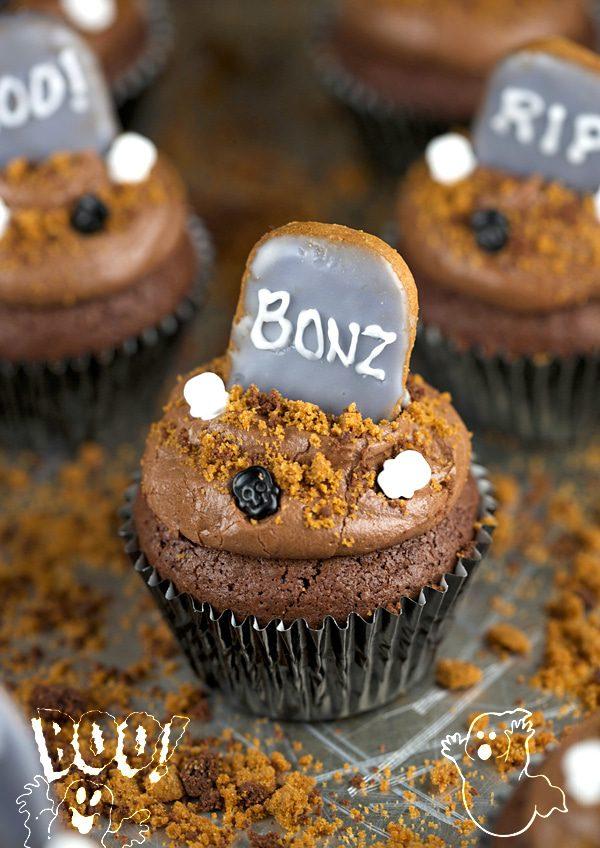Graveyard Brownie Cupcakes