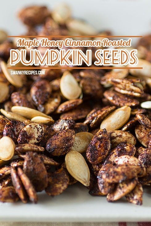 Maple Honey Cinnamon Roasted Pumpkin Seeds