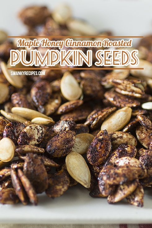Maple Honey Cinnamon Roasted Pumpkin Seeds