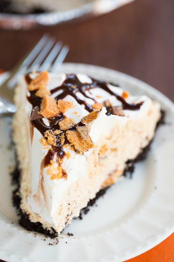 No Bake Butterfinger Pie