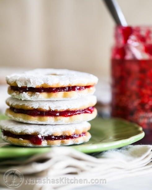 Jam Filled Sandwich Cookies