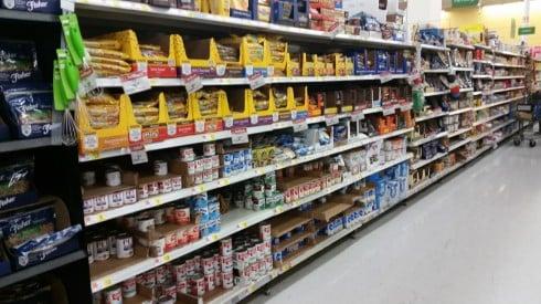 Walmart Caramel Bits and Baker's Chocolate