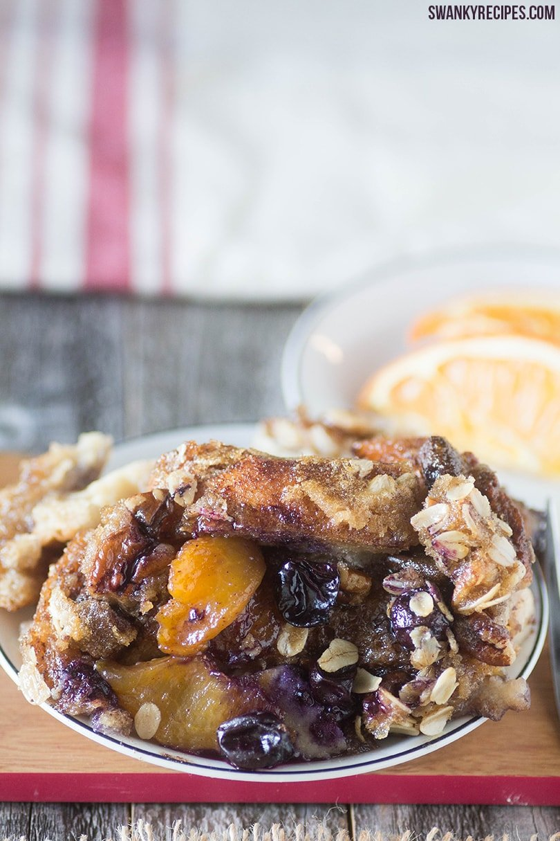 Baked Blueberry Peach French Toast