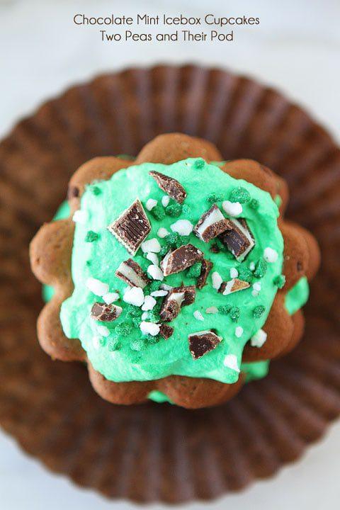Chocolate Mint Icebox Cupcakes