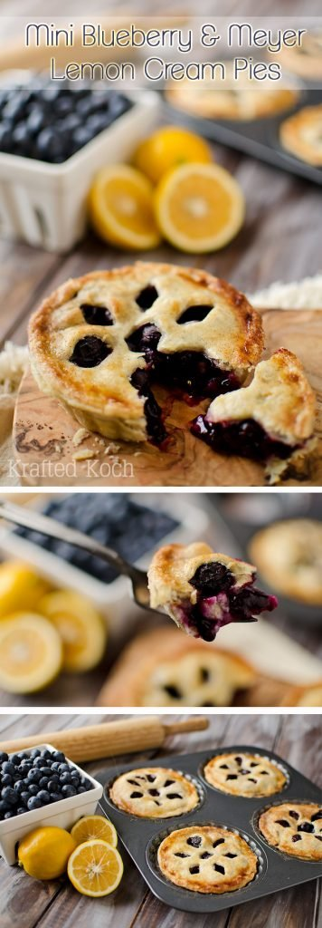 Mini Blueberry Lemon Cream Pies