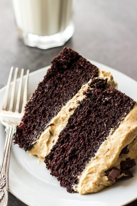 Peanut Butter Frosting Chocolate Layer Cake