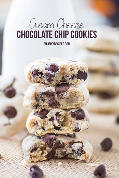 Soft Chocolate Chip Cream Cheese Cookies