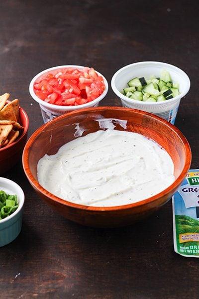 Greek Ranch Dip Appetizer