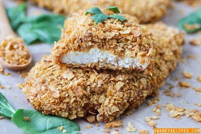 Moist Corn Flake Chicken Recipe