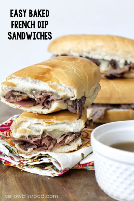 Baked French Dip Sandwiches
