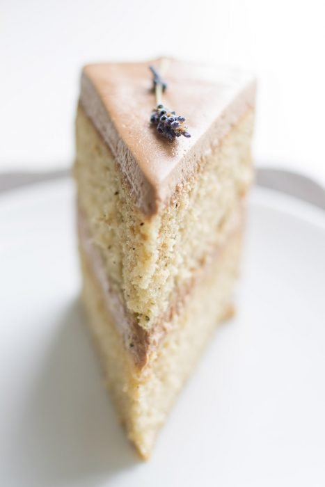 Chocolate Frosted Earl Grey Cake
