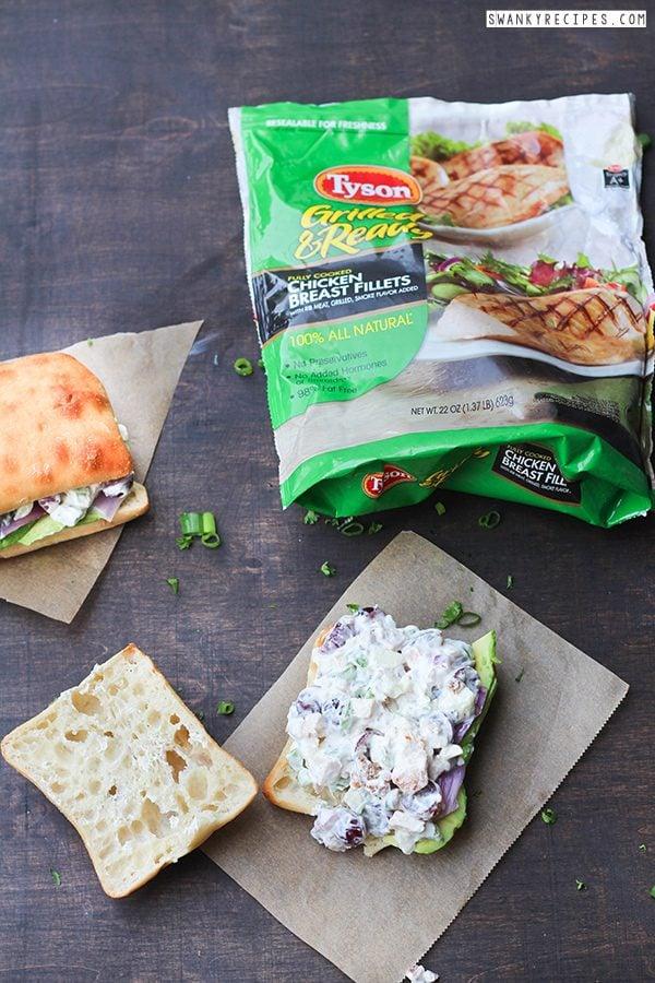 Grilled Chicken Salad Sandwich