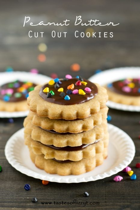 Glazed Peanut Butter Cookies