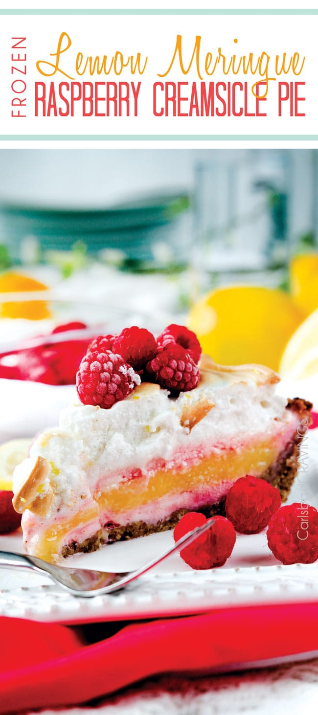 Lemon Meringue Raspberry Creamsicle Pie