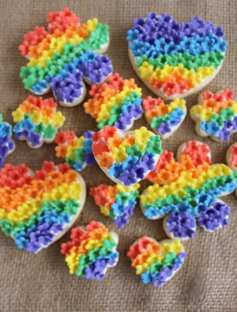 Rainbow Flower Cookies