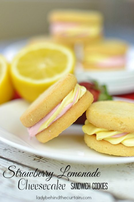 Strawberry Lemonade Sandwich Cookies