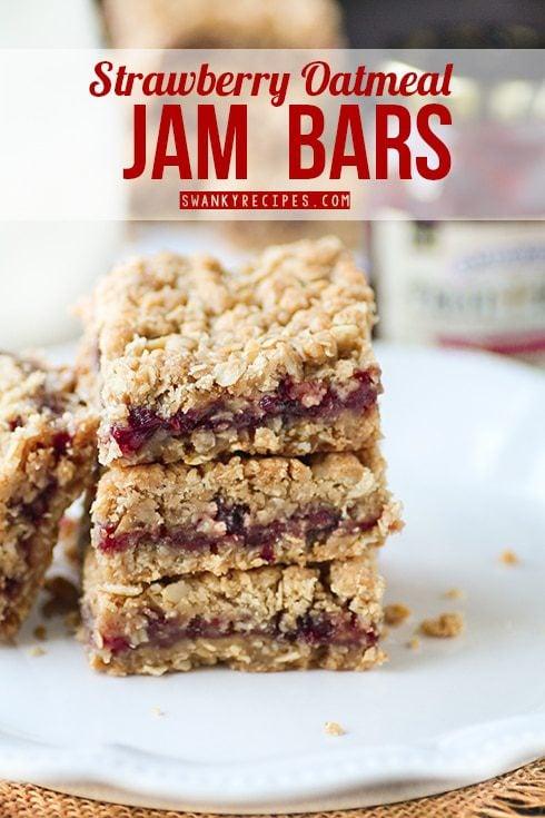 Strawberry Oatmeal Jam Bars