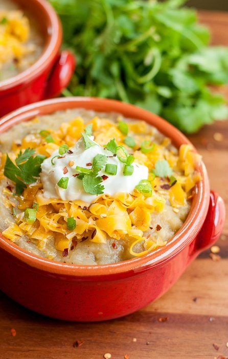 Crock Pot Mexican Baked Potato Soup