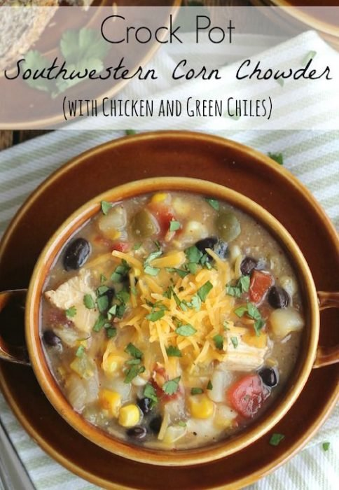 Crock Pot Southwestern Corn Chowder Chicken Soup