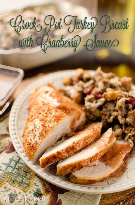 Crock Pot Turkey Breast and Cranberry Sauce